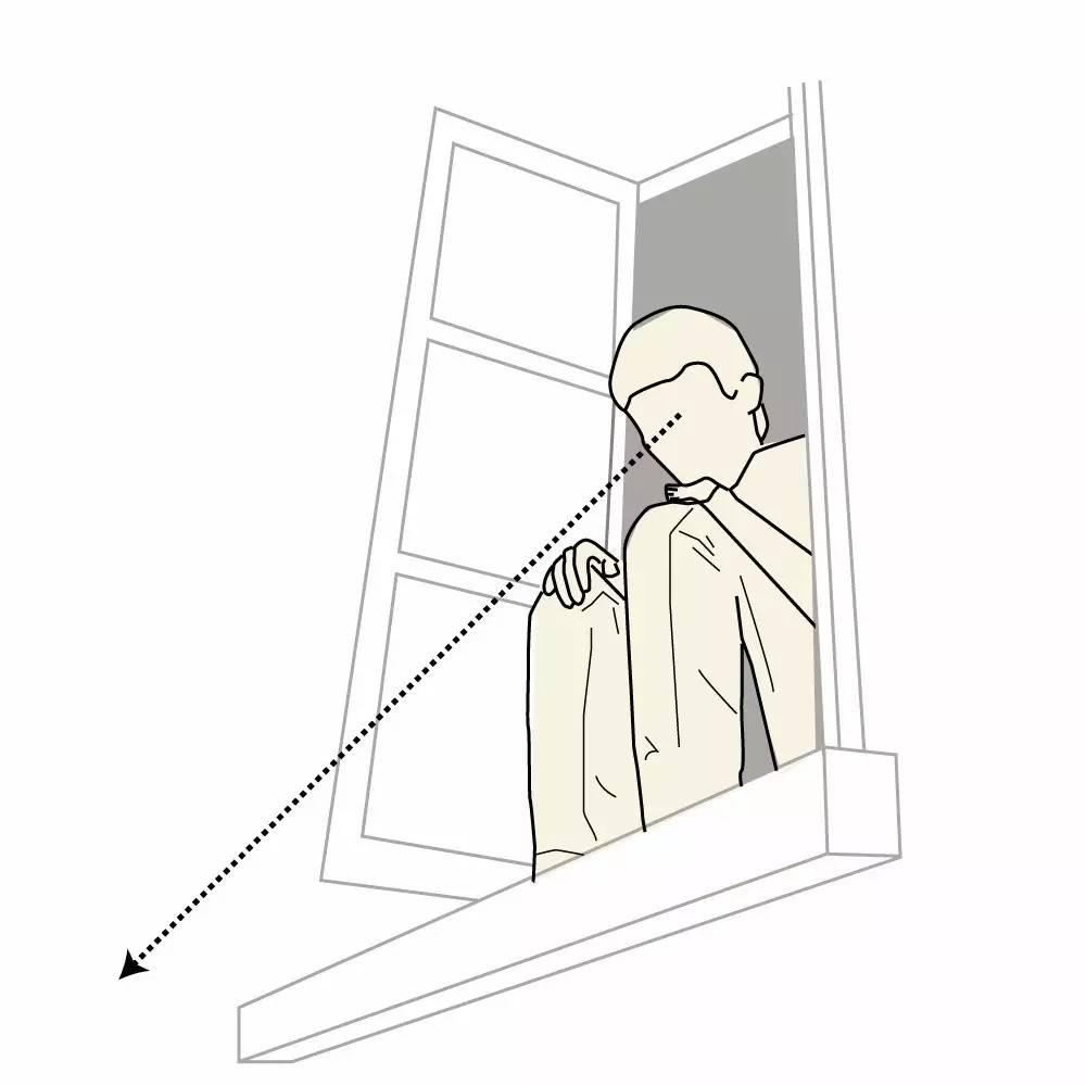 文明上下楼梯简笔画