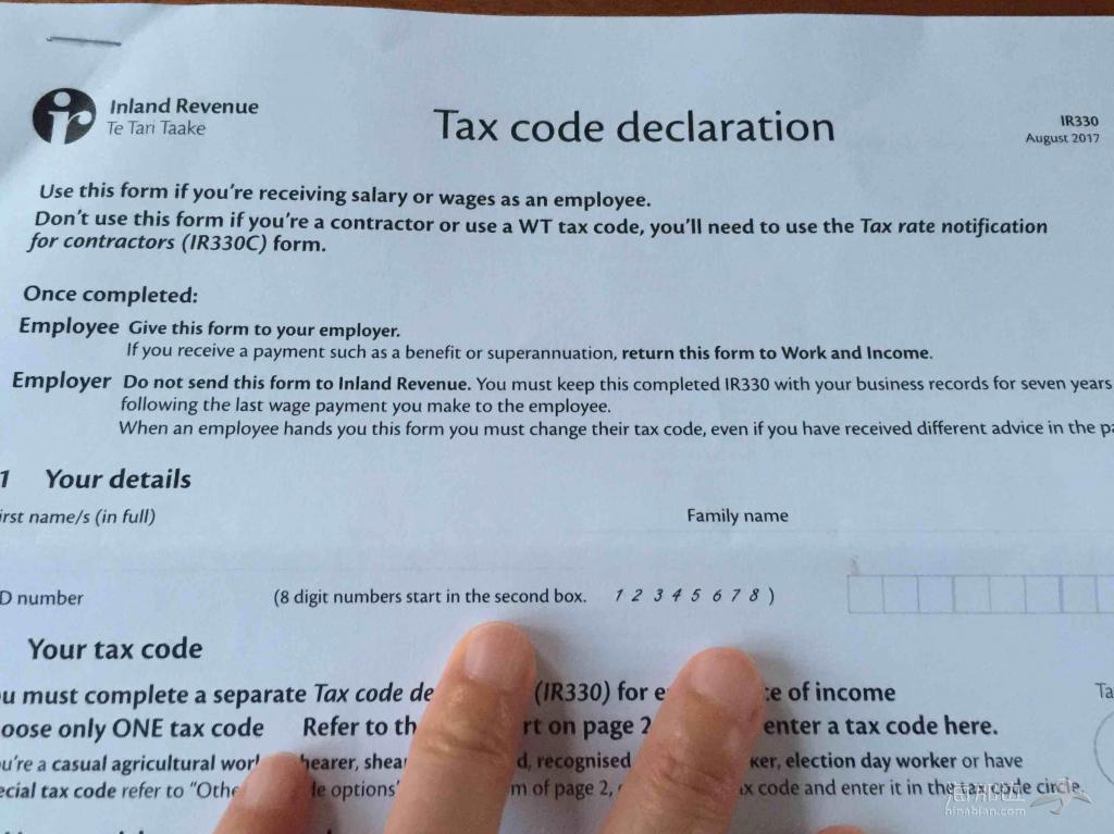 【婆在新西兰】纽国的税务申报单原來是酱紫滴