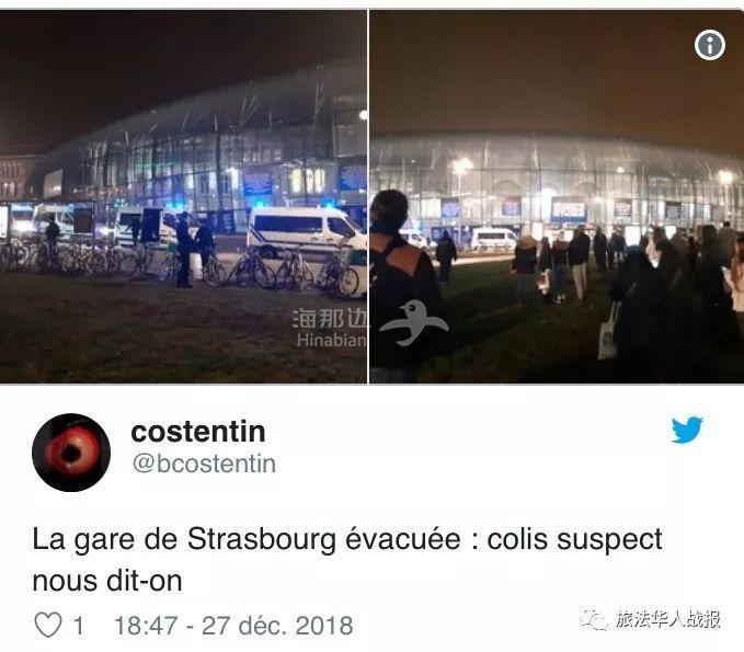 """【治安】斯特拉斯堡又现""""诈弹"""" 火车站交通瘫痪"""