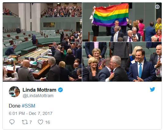 终于,澳大利亚成为全球第26个同性婚姻合法的国家