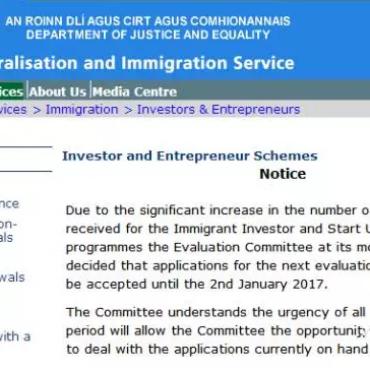 爱尔兰投资移民新政公布,明年投资额可能将要上调?!