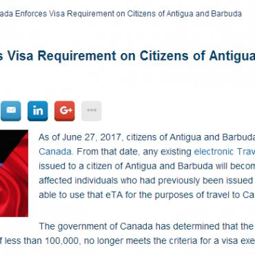 安提瓜护照不再免签加拿大?免签国家还有这些!