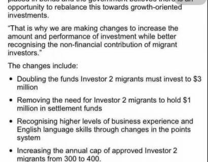 【重大消息】新西兰投资移民二类政策明年重大改变! 2017年5月正式生效!
