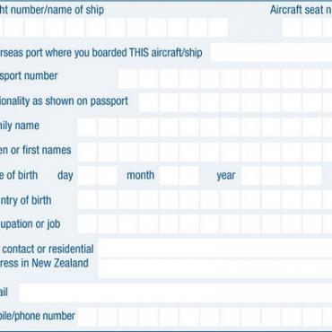 NZ入境卡的填写(importance)