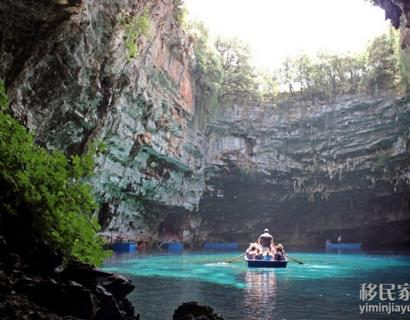 自然风情:希腊梅利萨尼洞