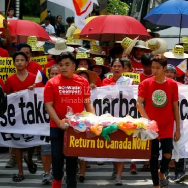 加拿大从菲律宾运回垃圾谁来付账?