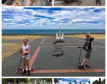 【婆在新西兰】有孩子的日子,早练(隶书)...
