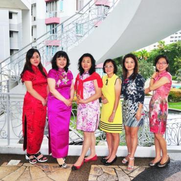 热带花园里的新年旗袍秀