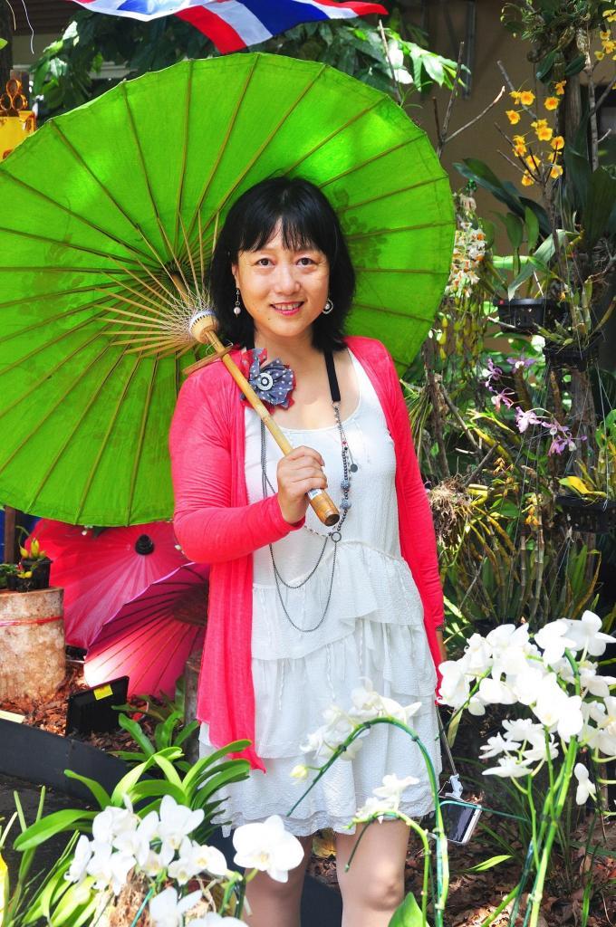 新加坡植物园看胡姬花展