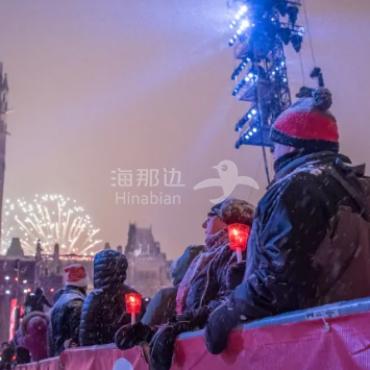 蒙特利尔、渥太华、多伦多跨年夜大放焰火